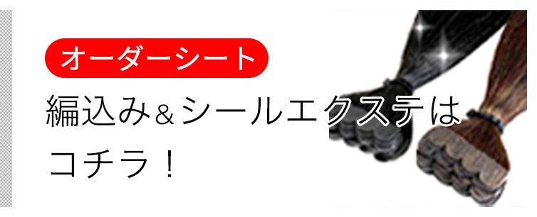 編込み・シールエクステのオーダーシート